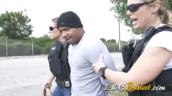 THICK fat BLACK cock wrecks white COP's pussy