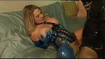 Latex serta mattresses Big tit milf fucks sex slave in latex - angela attison