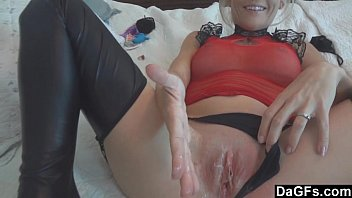 Creampie for hot blonde wife
