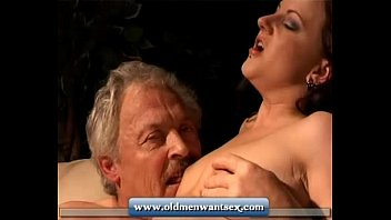 Older man takes my virginity - Young girl takes old man dick