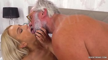 Hot Blonde Fucks an Older Dude