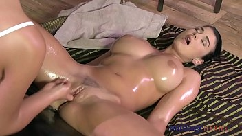 Massage Rooms Teen with incredible massive natural breasts cums hard preview image