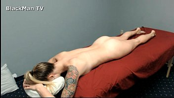 Black Man Massages white Girl - Real Sessions-