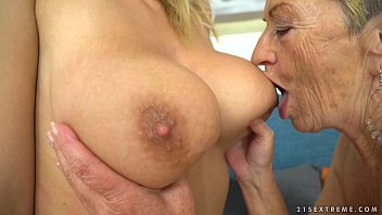 Busty granny and her younger lesbian friend - Malya, Aida Swinger porno izle