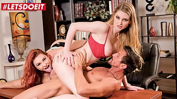 LETSDOEIT - Tommy Gunn Has Hardcore Sex At The Office With Bunny Colby & Lacy Lennon