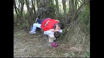 Gay oral j. makes his mate bust a nut outdoors 5 min
