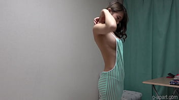 Naked Slender Girl Wears Revealing Clothes