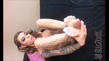 Teen KARMA RX with BIG COCK in Shower. FOOT FETISH 2 VIDS 18 min