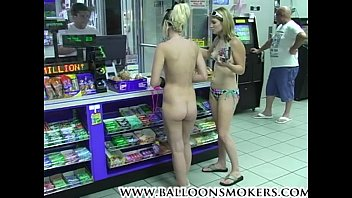 Super sexy naked blondes woman Blonde teen walks into market nude