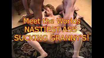 Free porn trailers pussy eating Worlds nastiest ass sucking grannys