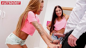 LETSDOEIT - Horny Daddy Martynez Bangs With His Horny Girls Silvia Dellai & Eveline Dellai While Mom It's Missing