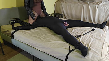 Chastity Sissy Finally Gets To Cum, But Then Has To Eat It