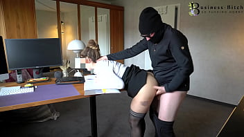 sexy secretary surprised from behind - rough office k1dnapping sex, business-bitch