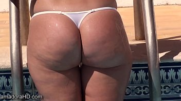 Wicked bikinis contributors Wicked weasel thong ass playing in the pool
