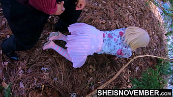 4k Quality Family Time With StepDaughter Msnovember Innocent Pussy, Lured Into Forest For Sex, I Cumshot Her Cute Big Ebony Ass With BBC, Then Lick Her Pussy Making Her Squirt Female Orgasm In Public, Stepdad Taboo Fuck on Sheisnovember With JDG Pornart