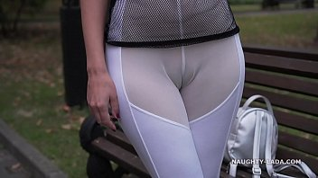 See nude huge balls - See-through outfit in public