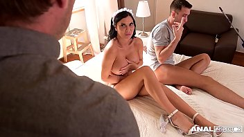 Anal inspectors watch Jasmine Jae being hardcore ass fucked by two studs