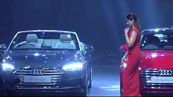 Ileana D'cruz Hot Ass In Red Gown At Audi A5 Launch