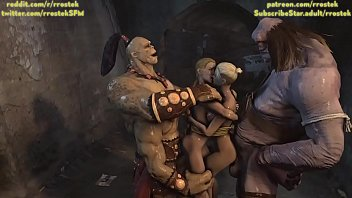 Cocks bulging out - 3d monster animation goro and cyclop fucking sonya and cassie cage
