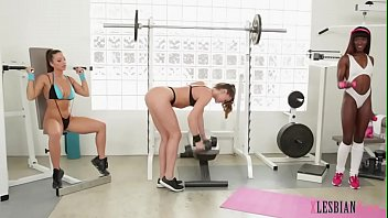 Hot fitness chicks in a lusty lesbian orgy