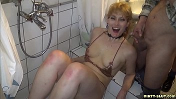 Hot wife Nicole pissed on by plenty of men thumbnail