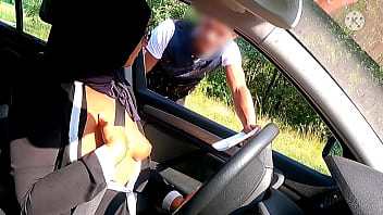 This unfaithful muslim asks for directions, she will find it on the hood of the unbelievably bare car