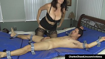 Busty Milf Charlee Chase Ties Tickles & Fucks A Lucky Guy!