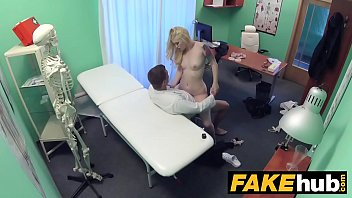 Fake Hospital Fit blonde sucks cock so doctor gives her bigger boobs