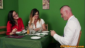 British CFNM babes wanking off lucky dude