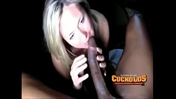 Wives giveing blow jobs - White wife loves to give interracial blowjobs