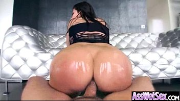 Oiled Big Ass Girl (aleksa nicole) Take It Deep In Her Behind On Camera clip-02
