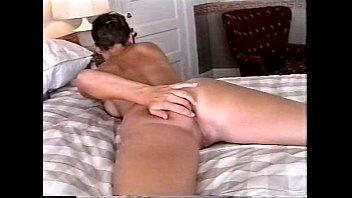 gretchen on bed anal beads dildo