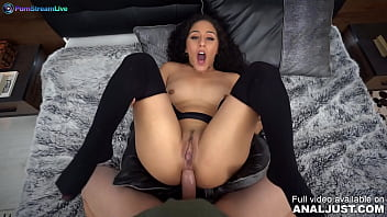Only3x (Just Anal) brings you - Liv Revamped by Anal Just in Curly haired beauty Liv Revamped getting shagged on her asshole