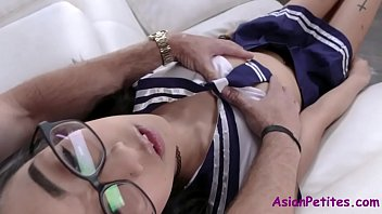 Sticky & Satisfied Asian Teen -Eva Yi