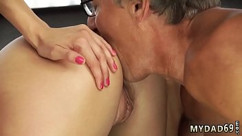 Old young teacher Sex with her boycomrade´s father after swimming