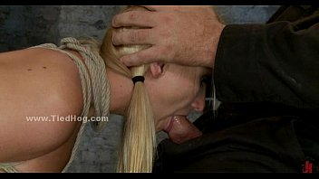 Blonde busty sex slave to swallow cock in extreme deepthroat sex video (Stop jerking off! Visit RealOne24.com)