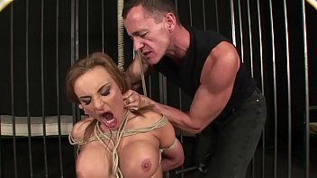 Enslaved woman extremely squirts and enjoys domination.BDSM movie.Hardcore bondage sex.