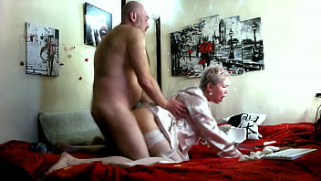 Depraved mature blonde bitch Aimee and her bald hot husband Peter make a movie for lovers of spicy sex! Don't take bad things from your mommy and daddy! Just learn from them fucking! )) Cowgirl, dogging, blowjob & wild moans of mature whore with