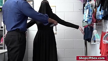 Religious blonde shoplifts and is fucked