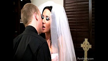 Sexy short wedding dresses Sexy bride jayden james fucks her priest