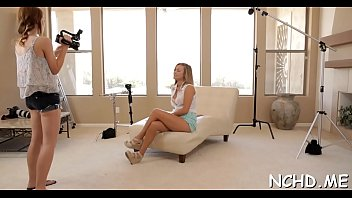 Pretty looking legal age teenager hottie gets her first casting experience
