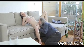 Crazy old chap fucks young girl