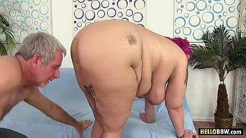 Pink haired BBW Sara Star Having Sex With Big Cocked Guy