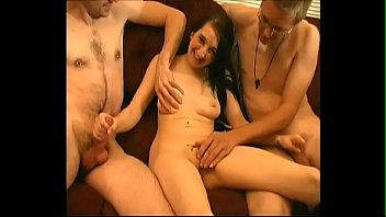 Young amateur slut has fun with two dicks - JustBangMe.com