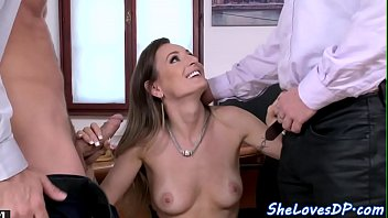 Glamcore euro doublepenetrated at the office
