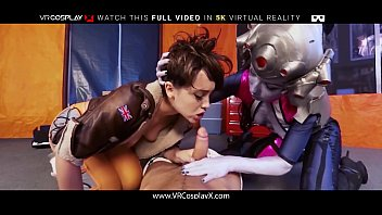 Sex games why fight your enemy when - Vrcosplayx xxx overwatch hard threesome fucking