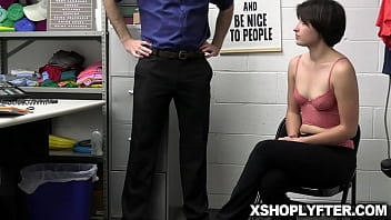 Angeline Red can't pretend to have fainted when she is taken into custody by security officer Wrex Oliver.