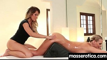 Gorgeous masseuse explores the body of a sexy lesbian beauty 8