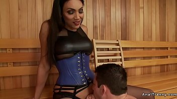 Yasmine shemale escort sydney Shemale gives facial to male in sauna