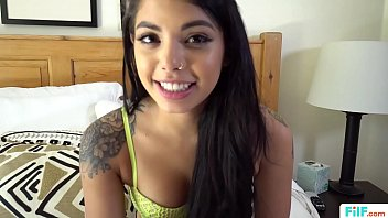 FILF - Gina Valentina Practices Sucking Dick On Her Stepbrother